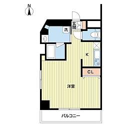DAIWA RESIDENCE IBARAKI 3階ワンルームの間取り