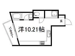 PLATINUM 3階ワンルームの間取り
