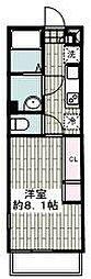 JR京浜東北・根岸線 港南台駅 徒歩10分の賃貸アパート 2階1Kの間取り