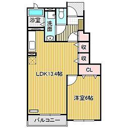 愛知県名古屋市中川区かの里3丁目の賃貸アパートの間取り