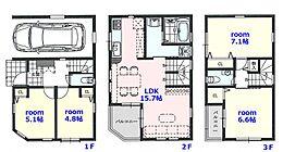 建物参考プラン 建物面積:92.17? 建物参考価格1700万円
