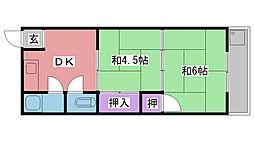 福寿荘[202号室]の間取り