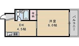 ジョイテル西田辺I[503号室]の間取り