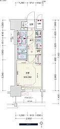 名古屋市営桜通線 中村区役所駅 徒歩4分の賃貸マンション 7階1Kの間取り