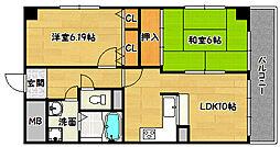 兵庫県神戸市兵庫区矢部町の賃貸マンションの間取り