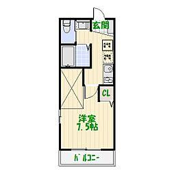 東京都葛飾区堀切5丁目の賃貸マンションの間取り