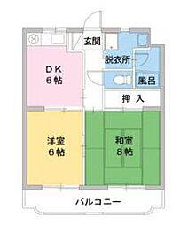 静岡県裾野市茶畑の賃貸マンションの間取り