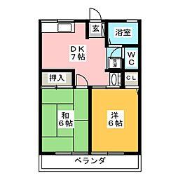 ヒロ[2階]の間取り