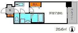 エスリード京都梅小路アヴェニテ 7階1Kの間取り