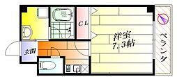 エルカーサ正雀I[3階]の間取り