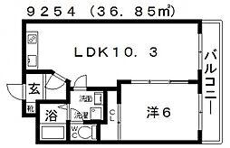 ファミティ弐番館[502号室号室]の間取り