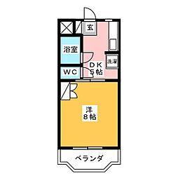 コンフォート萩C[1階]の間取り