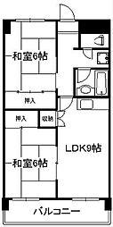 日恵コーポ[4階]の間取り