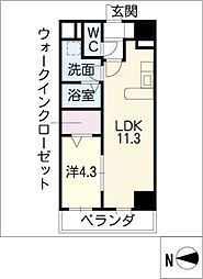フォレシティ栄[10階]の間取り