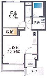 ラ・ポート藤[1階]の間取り