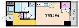 阪神本線 深江駅 徒歩1分の賃貸マンション 3階ワンルームの間取り