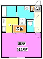 東京都練馬区貫井5丁目の賃貸マンションの間取り