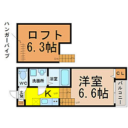 愛知県名古屋市熱田区古新町2丁目の賃貸アパートの間取り