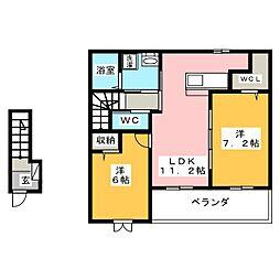 ラ・フレーズ[2階]の間取り