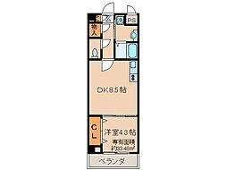 京都府京都市伏見区道阿弥町の賃貸マンションの間取り
