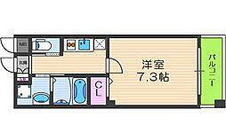 リーブル福島II 1階1Kの間取り