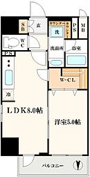 エステムコート北堀江[3階]の間取り