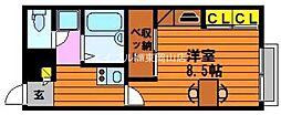 岡山県岡山市東区上道北方丁目なしの賃貸アパートの間取り