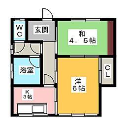 [一戸建] 愛知県一宮市開明字名古羅 の賃貸【/】の間取り