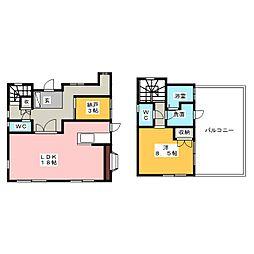 [一戸建] 愛知県名古屋市西区枇杷島5丁目 の賃貸【/】の間取り