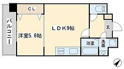 竪町センタービル[206号室]の間取り