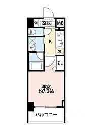 スプランディッド大阪WEST[605号室]の間取り