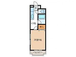 ホワイトパレス[2階]の間取り