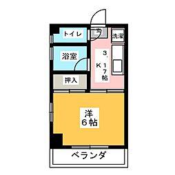 白萩ハイツ[3階]の間取り