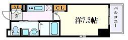 名古屋市営桜通線 吹上駅 徒歩1分の賃貸マンション 5階1Kの間取り