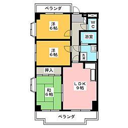 セゾン宮木[2階]の間取り