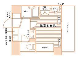 (仮称)上京区天秤町学生会館[食事付き] 4階1Kの間取り