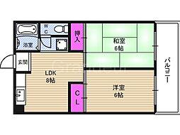 今津マンション[4階]の間取り