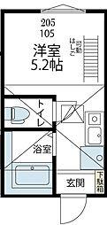 ヒルズ川崎大師[205号室号室]の間取り