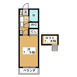 ノーブル参番館[1階]の間取り