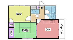 グランディア夙川2[302号室]の間取り