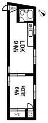 グレースハイムヨリノ[2階]の間取り