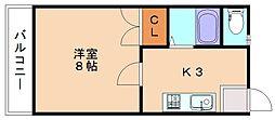レジデンスTOMO3[1階]の間取り