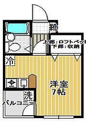 ファインコート旗の台[4階]の間取り