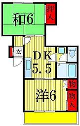 コーポカメリア[1階]の間取り