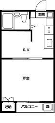 シャレー祐天寺カワベ第10[101号室]の間取り
