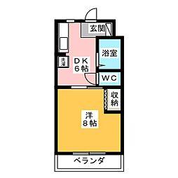 キャッスルバンブー[1階]の間取り
