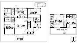 [一戸建] 兵庫県川西市緑台4丁目 の賃貸【/】の間取り