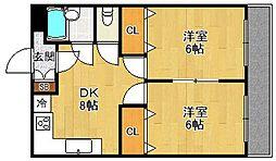 フローレンス西宮2[1階]の間取り