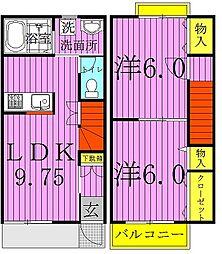 [テラスハウス] 千葉県我孫子市布佐 の賃貸【/】の間取り