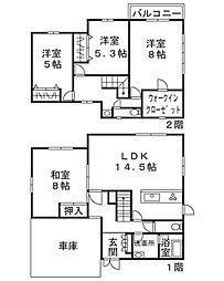 [一戸建] 神奈川県横浜市都筑区牛久保3丁目 の賃貸【/】の間取り